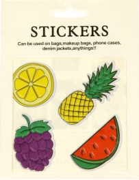 Wholesale WA00 Fruits PU sticker set for clothes & accessories