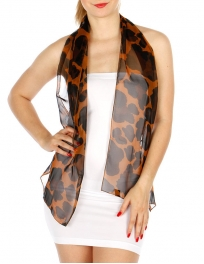 Wholesale P16B Animal Print Light Scarf GD