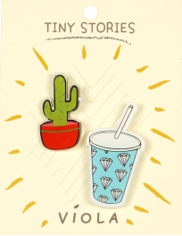 Wholesale WA00 Cactus & soda pin