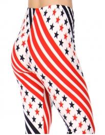 Wholesale Y34E NEW MIX Stars/stripes soft brushed leggings PLUS SIZE