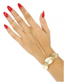 Wholesale L21 Metal leaves rings to bracelet G