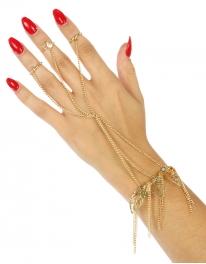 Wholesale L21 Metal open leaves rings to bracelet G