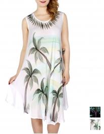 Wholesale M37E Palm tree umbrella dress