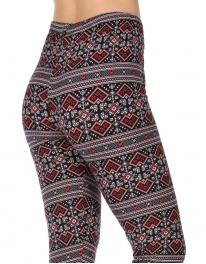 Wholesale Y34E NEW MIX Geometric soft brushed leggings PLUS SIZE