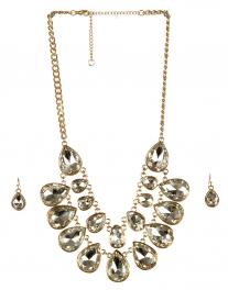 wholesale Stone drop necklace set GDCR fashionunic