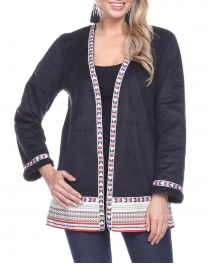 Wholesale T61C Sherpa trim jacket BLACK