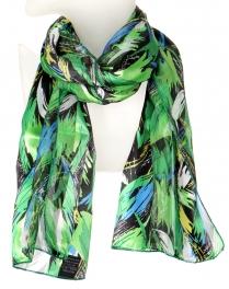 Wholesale WA00 Scribble leaf satin scarf