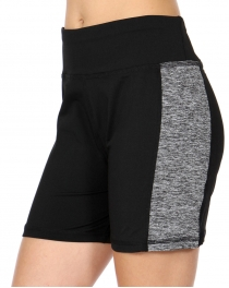 Wholesale C03B Side colorblock active shorts Black
