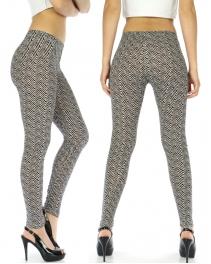 wholesale I75 Ziggins Zig-Zag knit leggings fashionunic