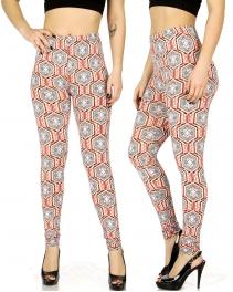 Wholesale F01 Baroque geometric print leggings
