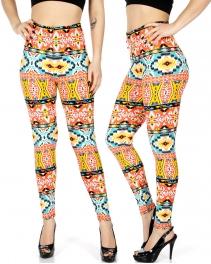 Wholesale B17D Mongolian tribal print leggings