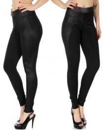 Wholesale A03B Pleather legging w/ scuba insert