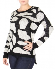 Wholesale U11D Two-tone knit sweater