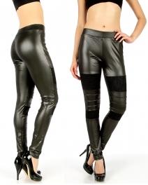 Wholesale H14 Lace patch liquid leggings Black