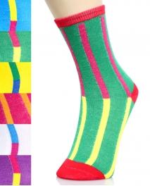 wholesale K36 Dozen retro print crew socks fashionunic