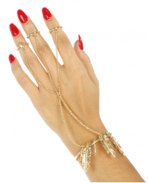 Wholesale L21 Metal feathers rings to bracelet G