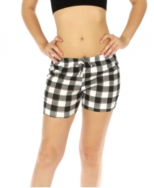 wholesale K77 Flannel pajama shorts Checkered