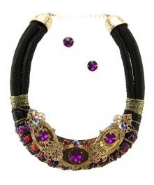 Wholesale L34E Multicolored stones necklace set AGPP