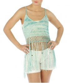 wholesale M31 Cotton tassel fringe crochet tank GY