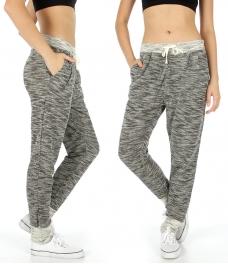 Wholesale M35 Marled cotton jogger pants Black