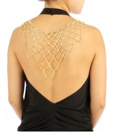 wholesale N35 Stone Large Back Necklace BACK2336GCL