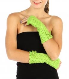 wholesale M33 Metallic bow knit arm warmer Dozen