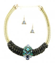 Wholesale L35B Multi stone choker necklace set GDBL