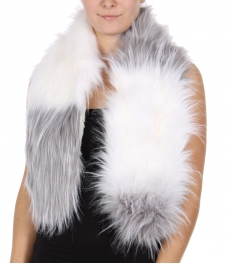 Wholesale T79A Faux fur scarf adjustable loops GRAY