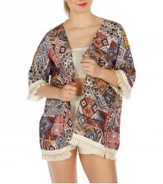 Wholesale I13C Abstract geometric kimono BL