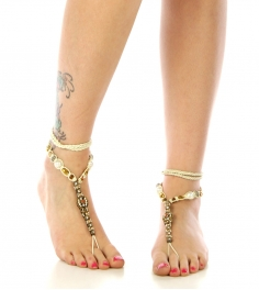wholesale N46 Multi stone beaded bohemian anklet