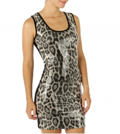 wholesale G32 Sequined skin dress Brown Small