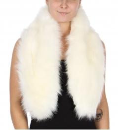 Wholesale T74D Faux fur scarf adjustable loops WHT