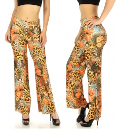 wholesale E14 Floral paisley animal palazzo pants