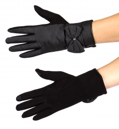 Wholesale T10S Bow-cuff touch screen gloves BK