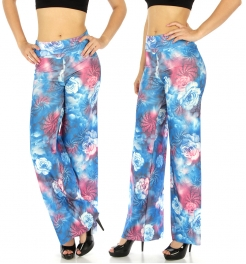 wholesale E26 Floral cloud palazzo pants fashionunic