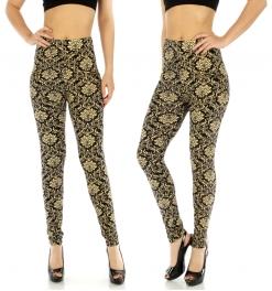 wholesale C19 Cotton zipped leggings Batik M/L