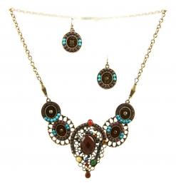 Wholesale L23 Centered stone necklace set GBBR