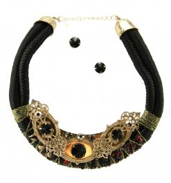 Wholesale L34E Multicolored stones necklace set AGBK