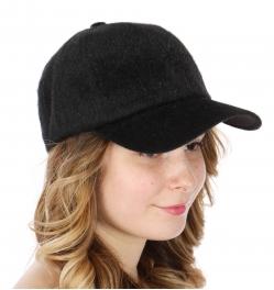 Wholesale Q77C Furry baseball cap BLK