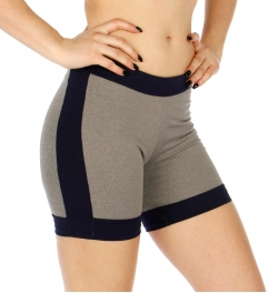 Wholesale P05 Colorblocked yoga shorts NV/GY