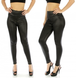 wholesale E42 Solid liquid leggings Black fashionunic