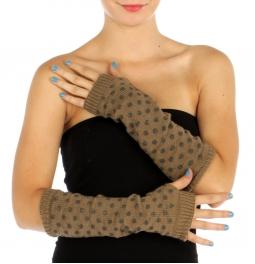 wholesale M29 Polka dot lurex arm warmers Khaki