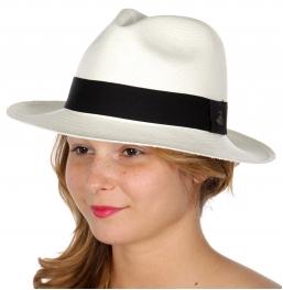 Wholesale V01A Premium handmade classic Panama hat from Ecuador White
