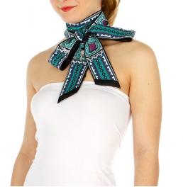 Wholesale P00C Geometric neck scarf long BK
