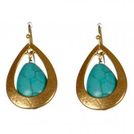 Wholesale M08D Teardrop earrings G