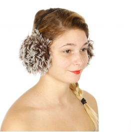 Wholesale T03D Two tone furry earmuffs BR
