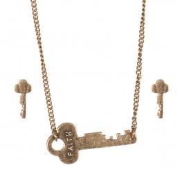 Wholesale WA00 Key pendant necklace set Faith 2 GB