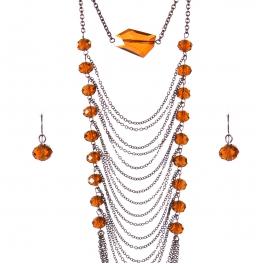 Wholesale Multi strand long necklace set CHBR