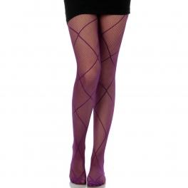 wholesale M01 rhombus purple fishnet pantyhose