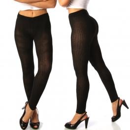 wholesale A00 Woven warm jacquard leggings Black XS